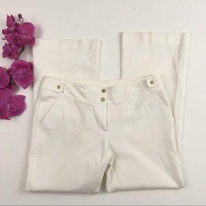CACHE White Wide Leg Trouser Pants, 4 Small